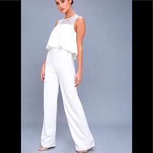 Hollywood Heights White Lace Jumpsuit